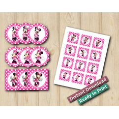 Minnie Mouse Stickers 2in