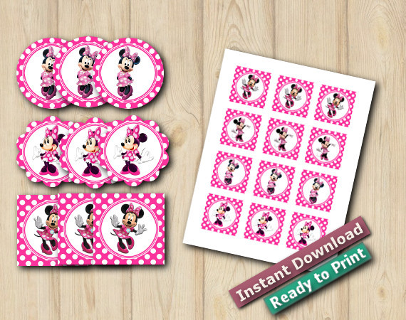 Minnie Mouse Stickers 2in   Instant Download