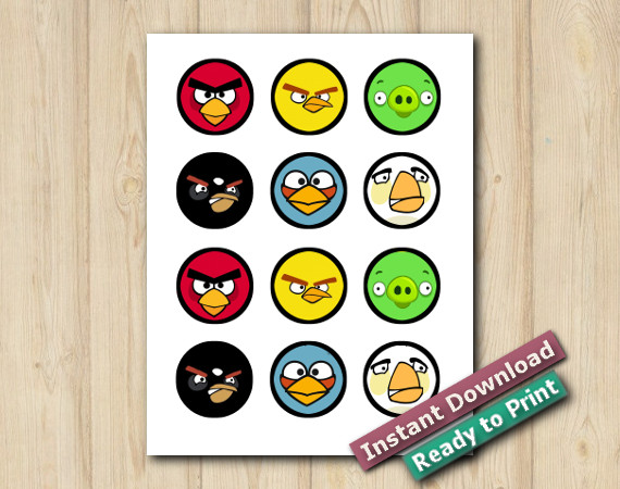 Downloadable Printable Angry Birds Stickers 2in