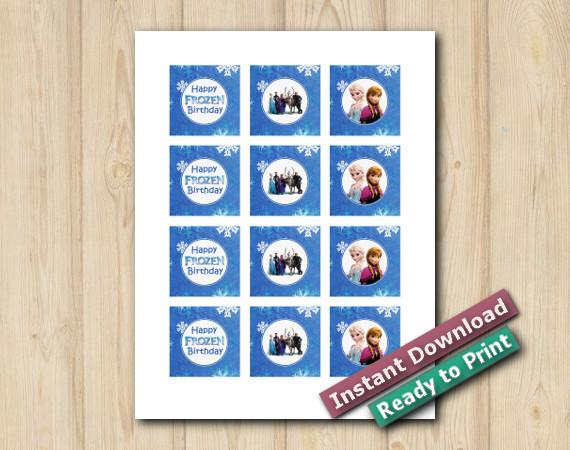 Ready to Print  Digital Frozen Stickers 2in
