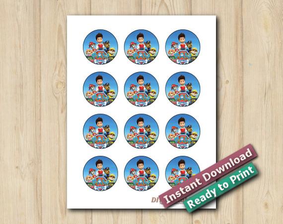 Printable Paw Patrol Stickers 2in