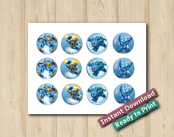 Instant Download  Printable Skylanders Stickers 2in