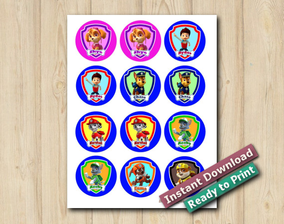 Downloadable Printable Paw Patrol Stickers 2in