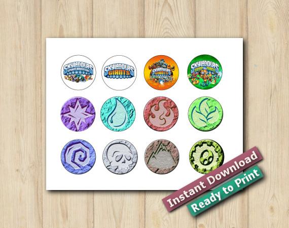 Instant Download Skylanders Stickers 2in