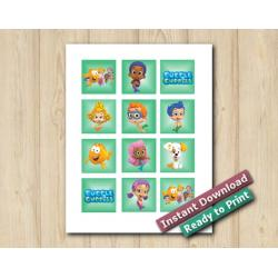 Bubble Guppies Stickers 2in