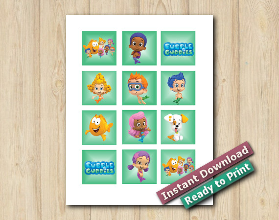 Bubble Guppies Stickers 2in | Instant Download