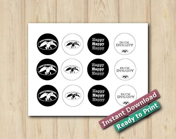 Downloadable  Digital Duck Dynasty Stickers 2in