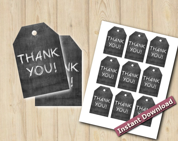 Chalkboard Favor Tags | Instant Download