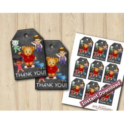 Daniel Tiger Favor Tags