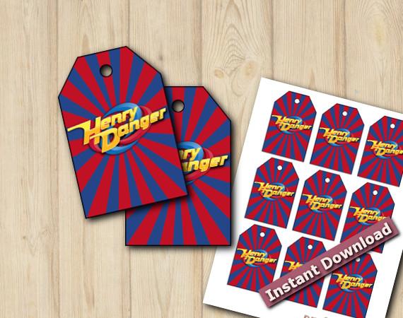 Henry Danger Favor Tags | Instant Download