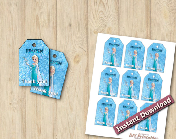 Instant Download Frozen Favor Tags