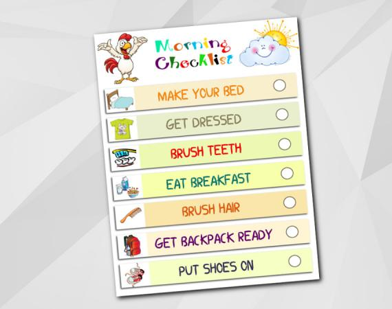Morning Routine Checklist - Instant Download