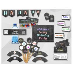 Chalkboard Birthday Party Package