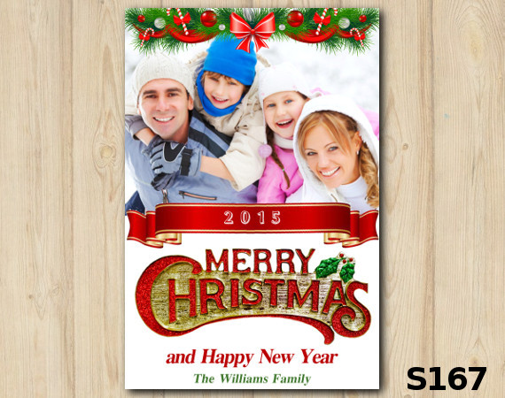 Christmas Photo Card   Personalized Digital Card