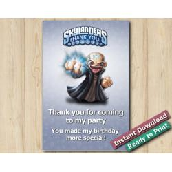 Skylanders Thank You Card 4x6 | Kaos