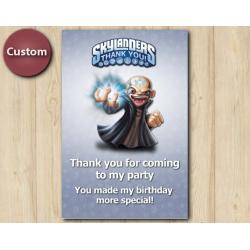 Skylanders Thank You Card | Kaos