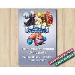Skylanders Thank You Card 4x6 | Kaos, Wildfire, PainYatta
