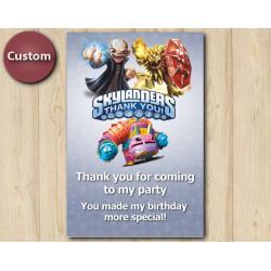 Skylanders Thank You Card | Kaos, Wildfire, PainYatta