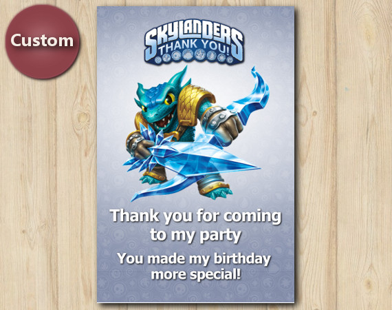 Skylanders Thank You Card | Snapshot | Instant Download