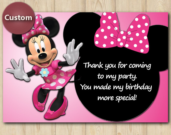 Minnie Mouse Thank You Card | Personalized Digital Card