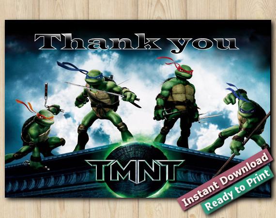 TMNT Thank You Card 5x7 | Instant Download