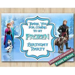 Frozen Thank You Card 4x6