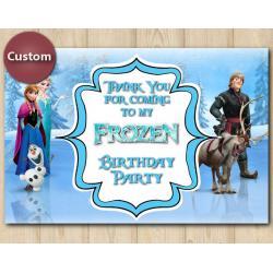 Frozen Thank You Card