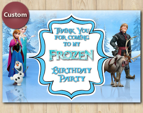 Frozen Thank You Card | Personalized Digital Card