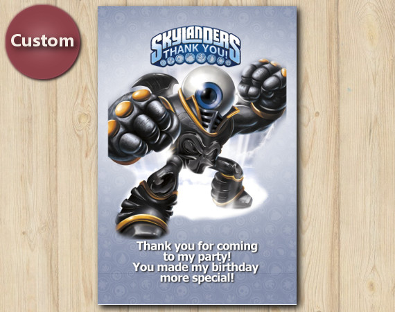 Skylanders Thank You Card   EyeBrawl   Personalized Digital Card