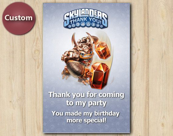 Skylanders Thank You Card | Wallop | Personalized Digital Card