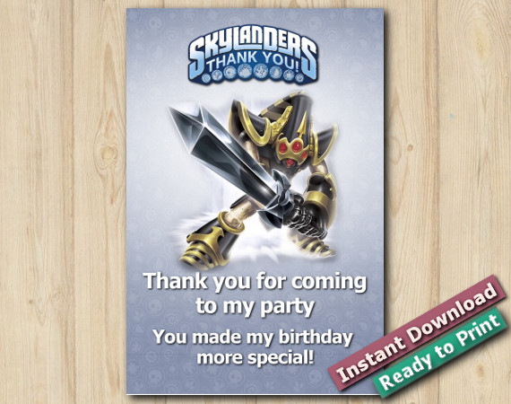 Skylanders Thank You Card 4x6 | KryptKing | Instant Download