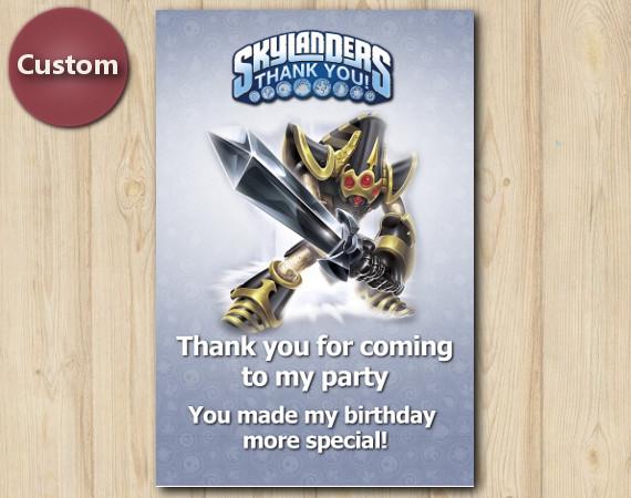 Skylanders Thank You Card   KryptKing   Personalized Digital Card
