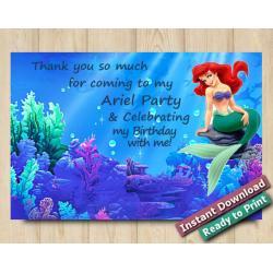Ariel Thank you Card 4x6