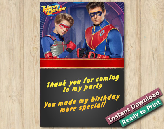 Instant Download Henry Danger Thank You 4x6