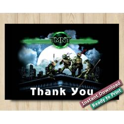 TMNT Thank You card 5x7