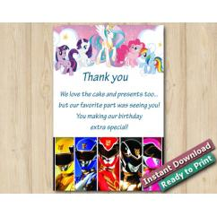 Twin My Little Pony and Power Ranger 5x7