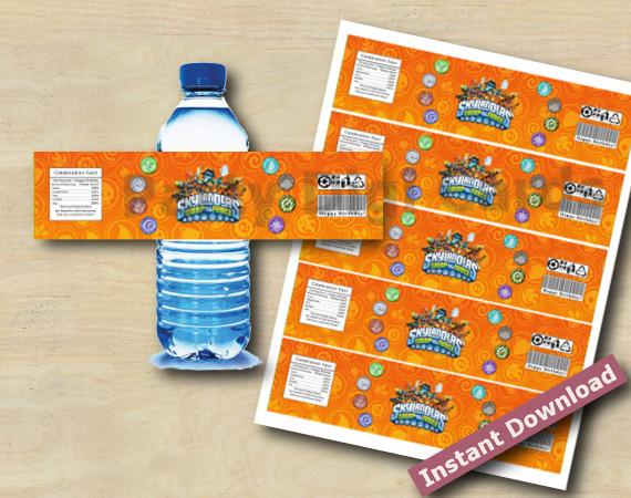 Instant Download Skylanders Water Bottle Labels