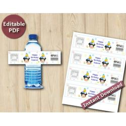 Tsum Tsum Editable Water Bottle Labels / Wrappers