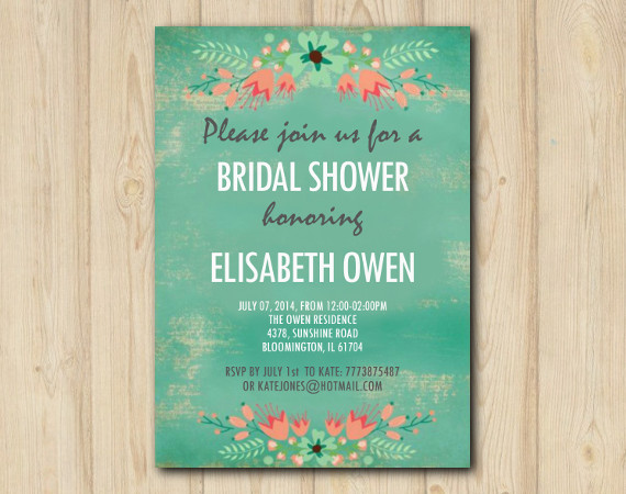 Floral Bridal Shower invitation | Personalized Digital Card