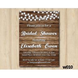 String Lights Bridal Shower Invitation