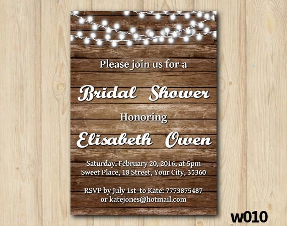 String Lights Bridal Shower Invitation | Personalized Digital Card