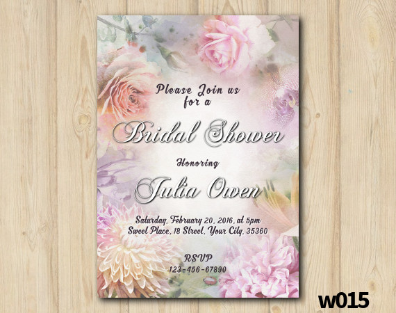 Floral Bridal Shower Invitation | Personalized Digital Card