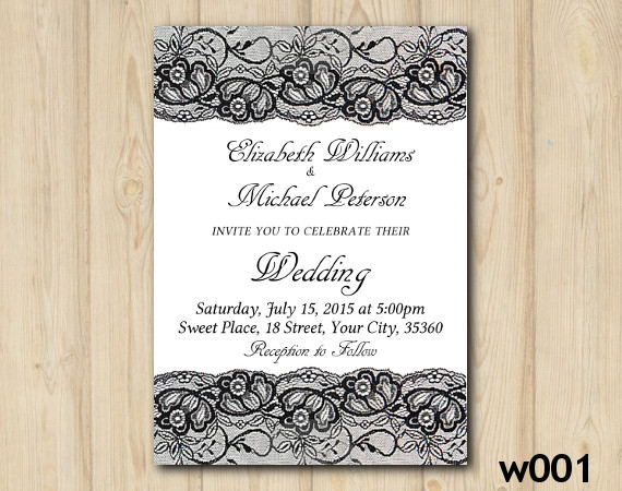 Lace Wedding invitation | Personalized Digital Card