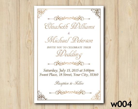 Gold Wedding invitation | Personalized Digital Card