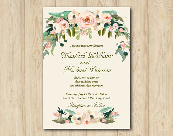 Floral Wedding invitation | Personalized Digital Card