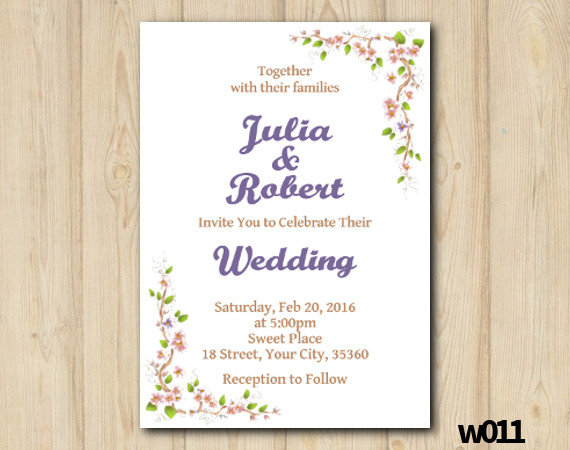 Floral Wedding Invitation | Personalized Digital Card