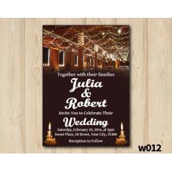 String Lights Wedding Invitation