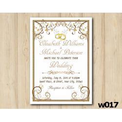 Gold Ornament Wedding Invitation