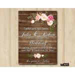 Watercolor Wood Wedding Wedding Invitation | Personalized Digital Card