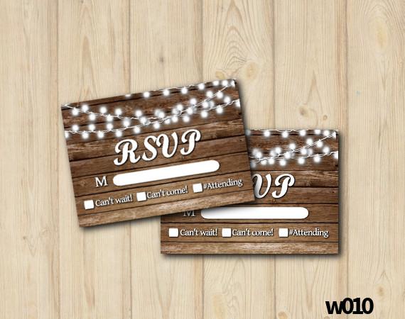 String Lights Wedding RSVP   Personalized Digital Card